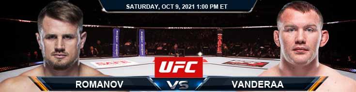 UFC Fight Night 194 Romanov vs Vanderaa 10-09-2021 Odds Forecast and Analysis