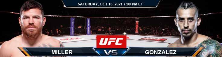 UFC Fight Night 195 Miller vs Gonzalez 10-16-2021 Odds Picks, and Previews