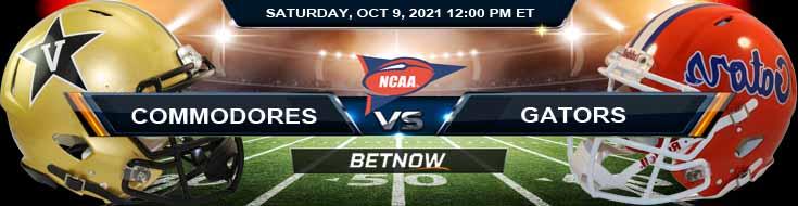 Vanderbilt vs Florida 10-09-2021 Week 6 Betting Forecast for Saturday's College Football Match