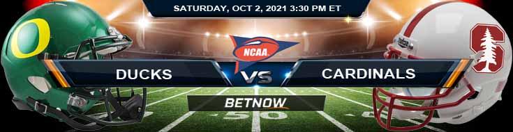 Week 5 Betting Analysis for Oregon Ducks vs Stanford Cardinal 10-02-2021 at Stanford Stadium