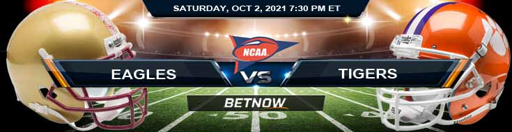 Week 5 Betting Spread for the College Football Match Between Eagles and Tigers 10-02-2021