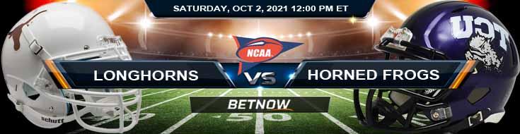 Week 5 Saturday's Best Football Analysis for Texas Longhorns vs TCU Horned Frogs 10-02-2021