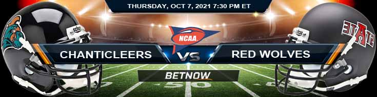 Week 6 Top Betting Odds Coastal Carolina vs Arkansas State 10-07-2021