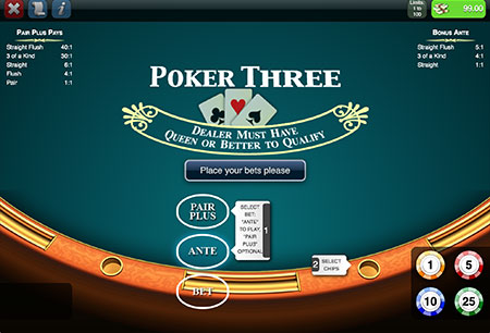 Poker Three Mobile