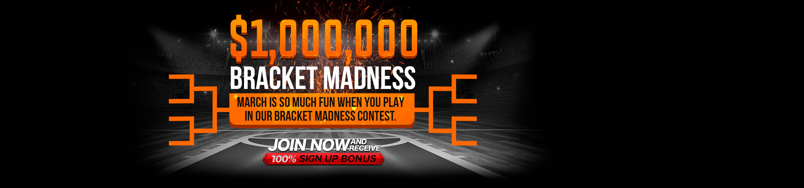 Bet on NBA Bracket Contest 100% Bonus