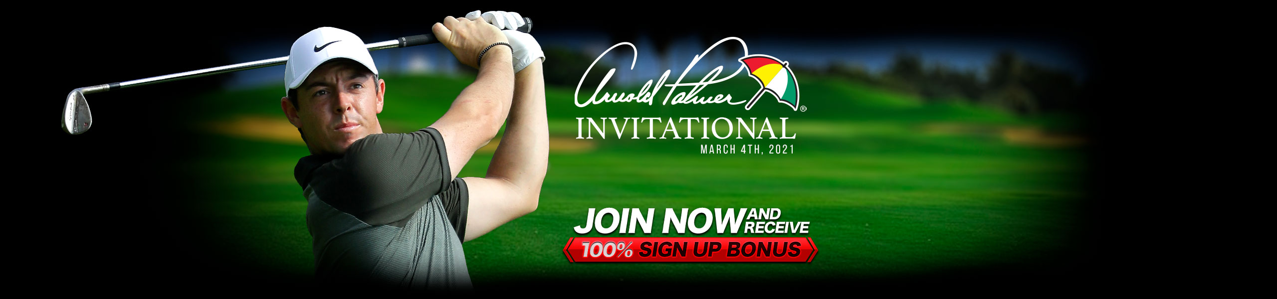 Bet on Golf 100% Bonus