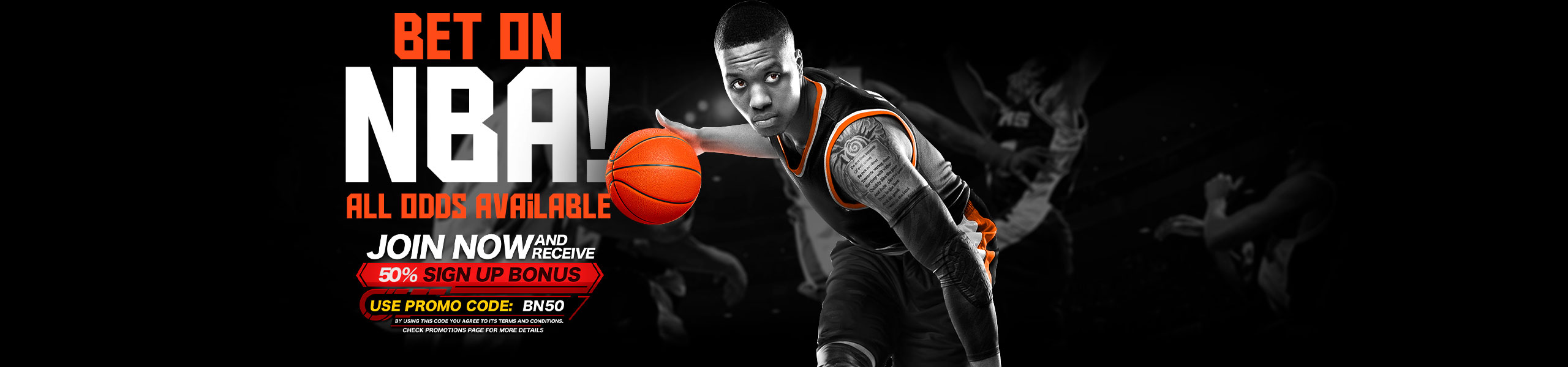 Bet on NBA 50% Bonus