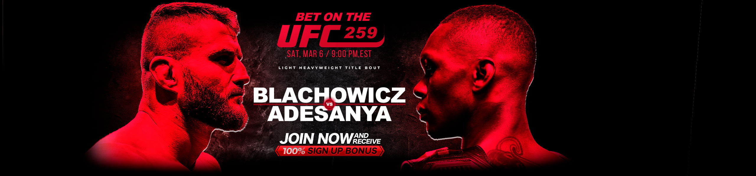 Bet on UFC 100% Bonus