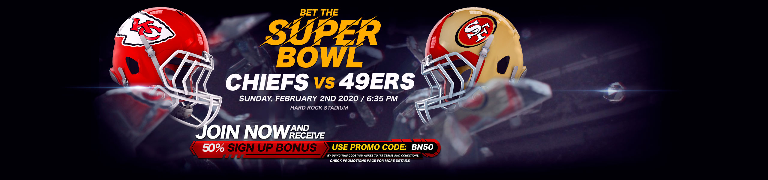 Bet on NFL 50% Bonus