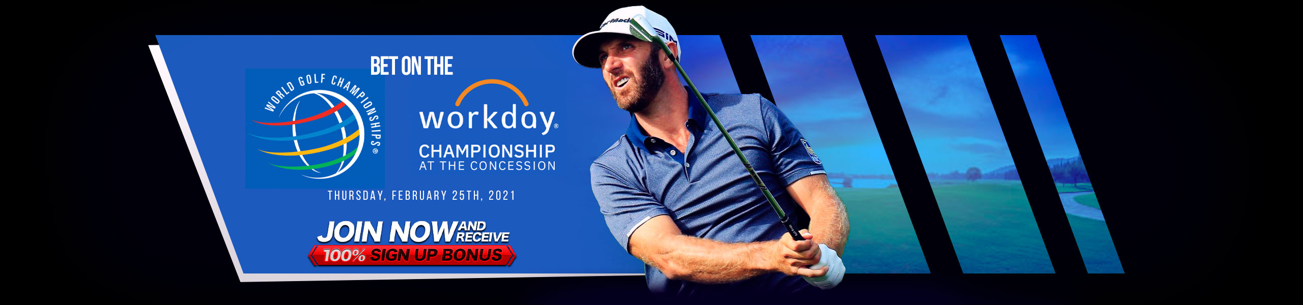 Bet on PGA Workday 100% Bonus