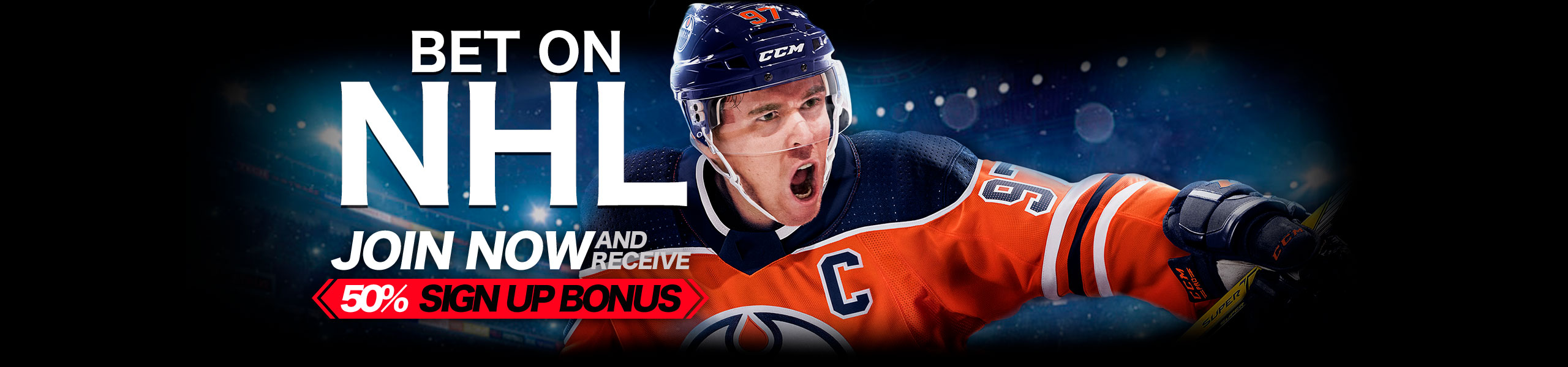 Bet on NHL 2018 50% Bonus